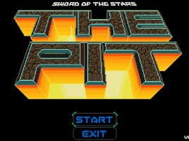The Pit startup screen.